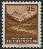 LIECHTENSTEIN 131 **, 1935, 25 Rp. Saminatal, Pracht, Mi. 80.- - Liechtenstein