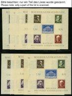 THÜRINGEN Bl.3(*),**, *, 1946, Blockpartie Nationaltheater, Bl. 3A (33x) Und Bl. 3B (43x), Teils Nach Plattentypen Besti - Sowjetische Zone (SBZ)