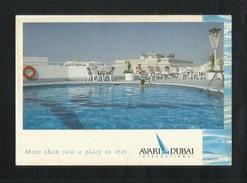 United Arab Emirates UAE Dubai Picture Postcard Avari Hotel Dubai View Card - Dubai