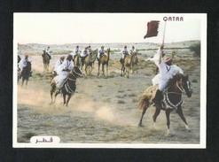 Qatar Picture Postcard Horsemanship View Card - Qatar