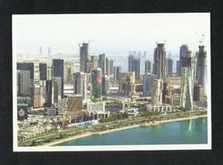 Qatar Picture Postcard Aerial View Doha Corniche View Card - Qatar