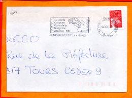 MARNE, Reims, Flamme SCOTEM N° 19154, 20e Anniversaire Du Centre En Route De La Navigation Aérienne - Marcophilie (Lettres)