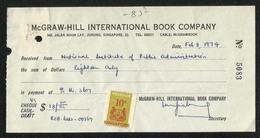Singapore  1974 Revenue Stamps On Slip - Singapour (1959-...)