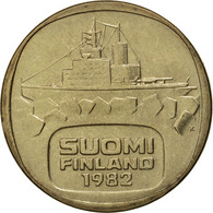 Finlande, 5 Markkaa, 1982, FDC, Aluminum-Bronze, KM:57 - Finlande