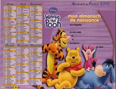 Calendrier Almanach De Naissance 2010 La Poste PTT Winnie L'ourson Tigrou Coco - Tamaño Grande : 2001-...