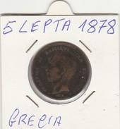 MONETA GRECIA: 5 LEPTA 1878 - LEGGI - Grecia