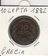 MONETA GRECIA: 10 LEPTA 1882 - LEGGI - Grecia