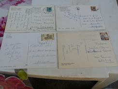 ITALIA  4 Cartoline AFFRANCATE  X  BELGIO - Altre Città