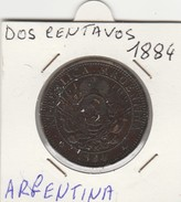 DOS CENTAVOS 1884 - MONETA ARGENTINA - BUONA CONSERVAZIONE - LEGGI - Amérique Centrale