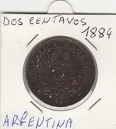 DOS CENTAVOS 1884 - MONETA ARGENTINA - BUONA CONSERVAZIONE - LEGGI - Central America