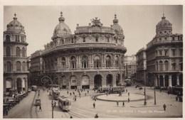 Italy, Genova, Piaza De Ferrari, Tram, Tramways (pk36538) - Italie