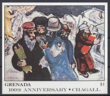 Grenada - 1986 Marc Chagall Block (1) MNH__(TH-13855) - Grenada (1974-...)