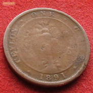 Sri Lanka Ceylon 1 Cent 1891 - Sri Lanka