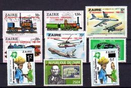 1980  20 Ans De L'Indépendance, 1077 / 1085**, Cote 9 €, - République Démocratique Du Congo (1997 -...)
