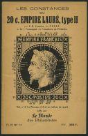 PHIL. LITERATUR Les Constances Du 20 C. Empiere Mauré, Type II, Etude Nr. II, 20 Seiten, édite Par Le Monde Des Philatél - Philatelie Und Postgeschichte