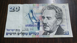 Israel-new Sheqel-seventh Issue-(1986-1995)-(20new Sheqalim Moshe Sharet-number-2497151430)-very Good - Israel