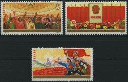 CHINA - VOLKSREPUBLIK 1225-27 **, 1975, 4. Nationaler Volkskongreß, Prachtsatz, Mi. 75.- - 1949 - ... Volksrepublik