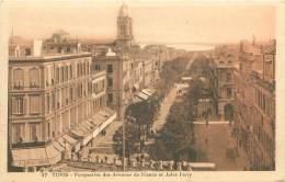 TUNIS - Perspective Des Avenues De France Et Jules Ferry - Tunisie