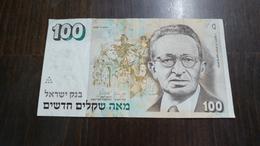 Israel-new Sheqel-seventh Issue-(1986-1995)-(100new Sheqalim Yitzhak Ben Ziv-number-10524336213)-very Good - Israel