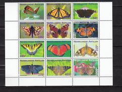 Neth Antilles Ned Antillen 2009,12V In Sheetlet,butterflies,vlinders,schmetterlinge,papillons,maripo,MNH/Postfris(L3068) - Vlinders