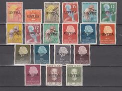 Neth New Guinea 1962,19V,set Ovpt With UNTEA,MNH/Postfris(C254) - Nederlands Nieuw-Guinea