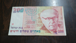 Israel-new Sheqel-seventh Issue-(1986-1995)-(200new Sheqalim Zalman Shazar(1991)-number-2260395522)-very Good - Israel