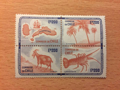 """Cile """"The 400th Anniversary Of Discovery Of Juan Fernandez Archipelago"""", Block Of 4, Anno 1974 - Chile"""