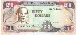 JAMAICA 50 DOLLARS 2004 PICK 83b UNC - Jamaica