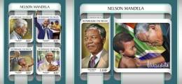 Z08 NIG17201ab NIGER 2017 Nelson Mandela MNH ** Postfrisch Set - Niger (1960-...)