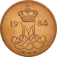 Danemark, Margrethe II, 5 Öre, 1984, Copenhagen, FDC, Copper Clad Iron - Dänemark