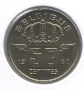 50 Cent 1980 Frans   Groot Hoofd * BOUDEWIJN * F D C * - 03. 50 Centiem