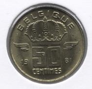 50 Cent 1981 Frans   Groot Hoofd * BOUDEWIJN * F D C * - 03. 50 Centiem