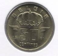 50 Cent 1981 Vlaams   Groot Hoofd * BOUDEWIJN * F D C * - 03. 50 Centiem