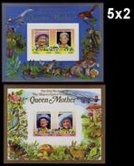 BULK:5 X TUVALU-Funafuti 1985 Queen Mother IMPERF Concorde Flowers Mushrooms DeLuxe:2 [épreuve Prueba Druckpro - Tuvalu (fr. Elliceinseln)