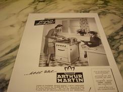 ANCIENNE PUBLICITE CUISINE AVEC ARTHUR MARTIN 1948 - Publicité