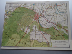 WANDELKAART Omstreken KLEEF Cleve ( Uitg. Geurts Nijmegen ) Formaat +/- 22 X 28 Cm (  Zie Details Op Foto ) E.W. PULL ! - Otros