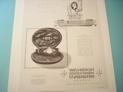 ANCIENNE PUBLICITE MONTRE DE GRANDE CLASSE VACHERON ET CONSTANTIN 1948 - Bijoux & Horlogerie