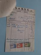 S.A.B.S.A. Gembloux - Jodoigne 1948 ( Factuur + Tax ! - Belgique
