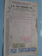 J. -B. VAN LINTHOUT Fils Meubles Bruxelles 1932 ( Factuur + Tax ) > Frasnes ! - Belgium