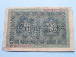FUNFZIG MARK Berlin 5 August 1914 - W.Nr3752843 ( Please See Photo ) ! - [ 2] 1871-1918: Deutsches Kaiserreich