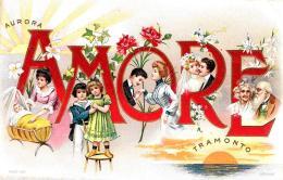 [DC10348] CPA - AMORE - AURORA - TRAMONTO - IN RILIEVO - Viaggiata 1906 - Old Postcard - Cartoline