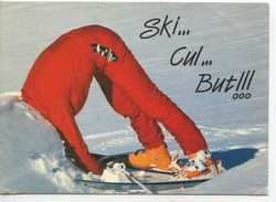 Ski... Cul... But !!! - Humour Sports D'hiver N°11 André (cp Vierge) - Humour