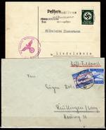 Germania-SP341 - Cartolina Di Servizio E Busta In Franchigia, Recanti Specifica Francatura. - Lettres & Documents