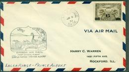CANADA 1932-1er VOL Lac La Ronge / Prince Albert Arr. Verso.ct CANARDS + AVION TB - Primeros Vuelos