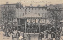 CPA 82 MONTAUBAN LA MUSIQUE SUR LES ALLEES MORTARIEU - Montauban