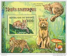 BURUNDI 2014 ** S/S Wild Cats Wildkatzen Chats Sauvages - OFFICIAL ISSUE - A1525 - Roofkatten