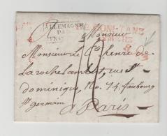 BAD288 / BADEN -  R 2 Constanz 12. März 1822 Via Strassburg Nach Paris - Duitsland