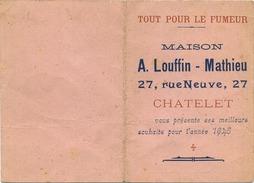 CHATELET :  Calendrier  1948: A. Louffin-Mathieu : Tout Pour Le Fumeur - Calendriers