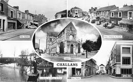 ¤¤  -  CHALLANS   -  Multivues  -  Rue Carnot, Place De-Gaulle, Marais, Rue Gobin, L'Eglise   -   ¤¤ - Challans