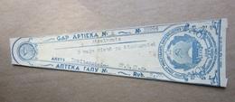 Y1947 Russia  -  Latvia APOTHEKE - PHARMACY Medicine - Drug Bottle LABEL - Vieux Papiers